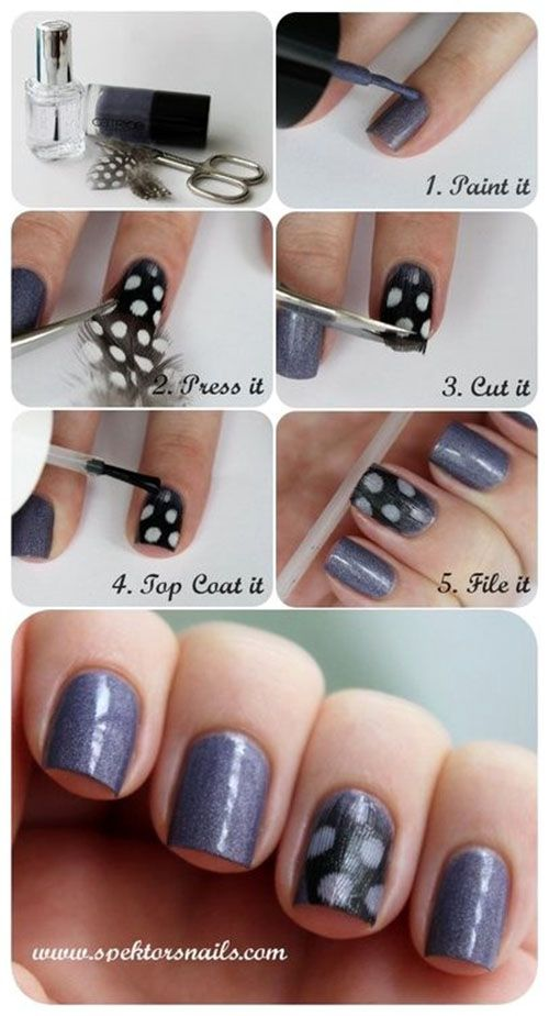 Feather Nail Art Style Tutorial #nails