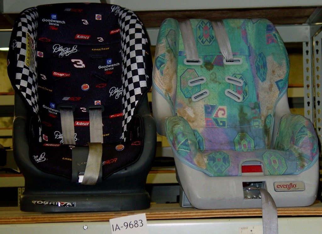 Cosco seat (NASCAR) and evenflo seat mid to late 90's | Baby ...
