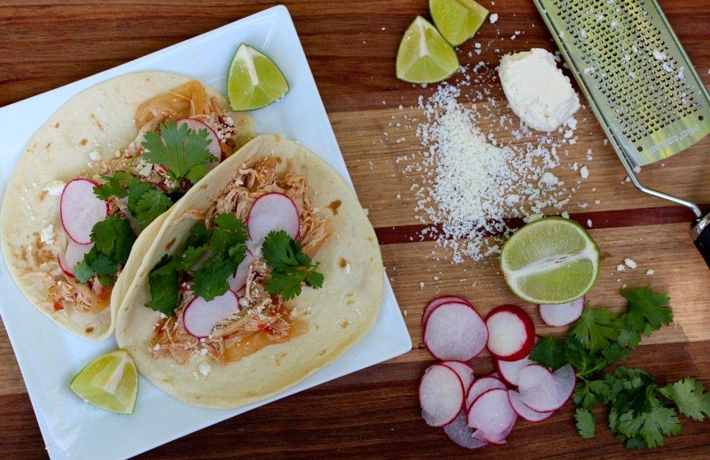 Crockpot chicken tinga tacos the defined dish crockpot