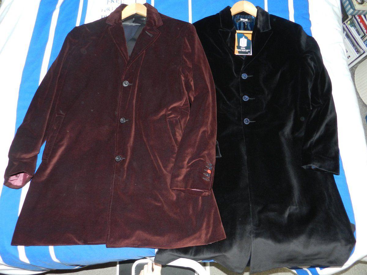 c268112a9260 Twelfth Doctor's red velvet (series 8-10) verses black velvet (series 10) frock  coats. #DoctorWho