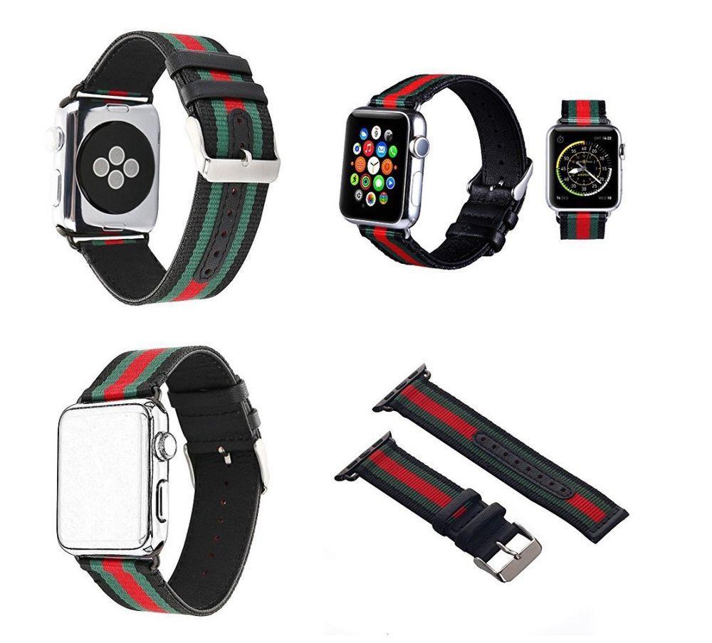 Apple Watch Band Strap Gucci Pattern Sport Leather Band