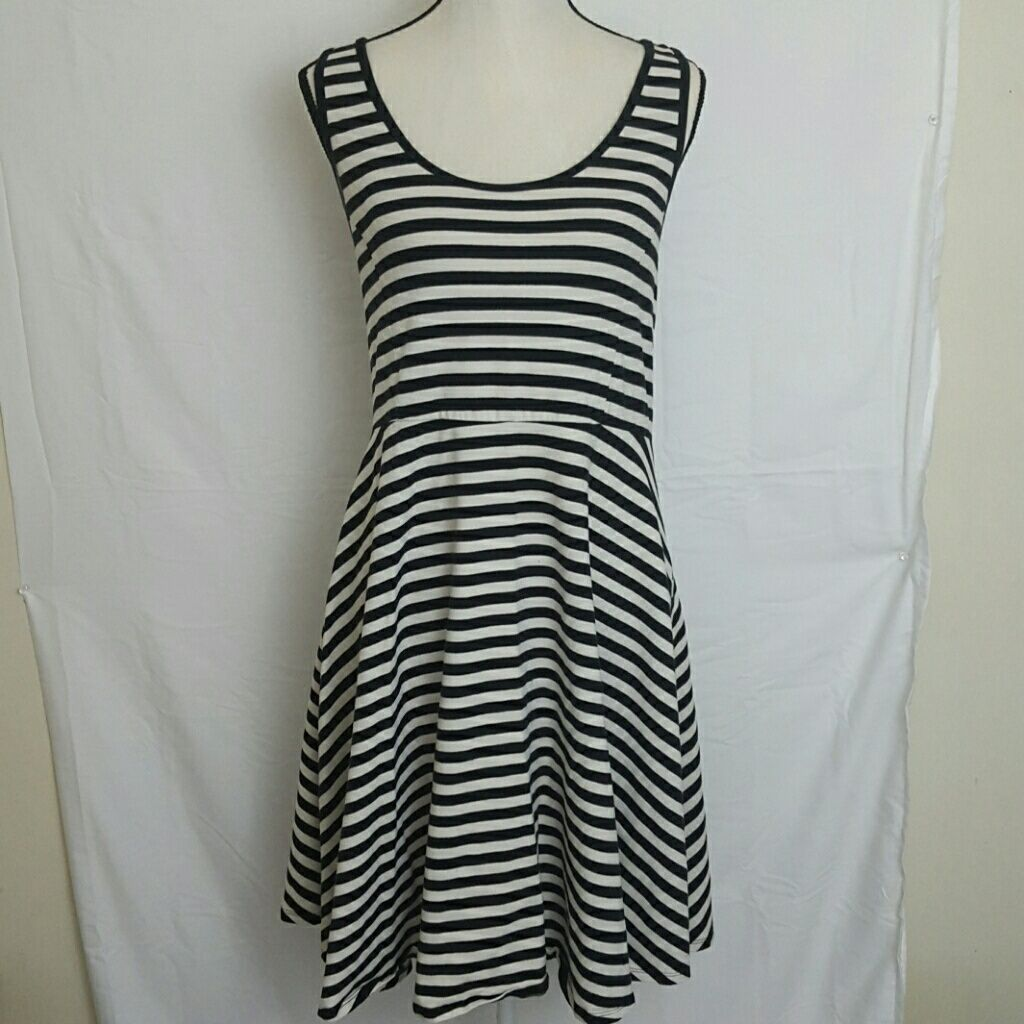 Black and white striped skater dress products