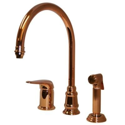 Copper Kitchen Faucet With Sprayer Kitchen Faucet With Sprayer