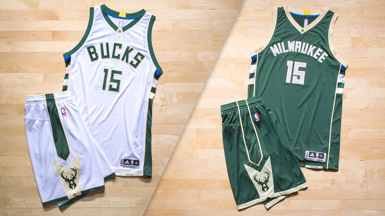The Milwaukee Bucks  new uniforms are a hit. A green and cream color scheme  and new typeface are a cool mix of old and new.  UniWatch 28ab3076f