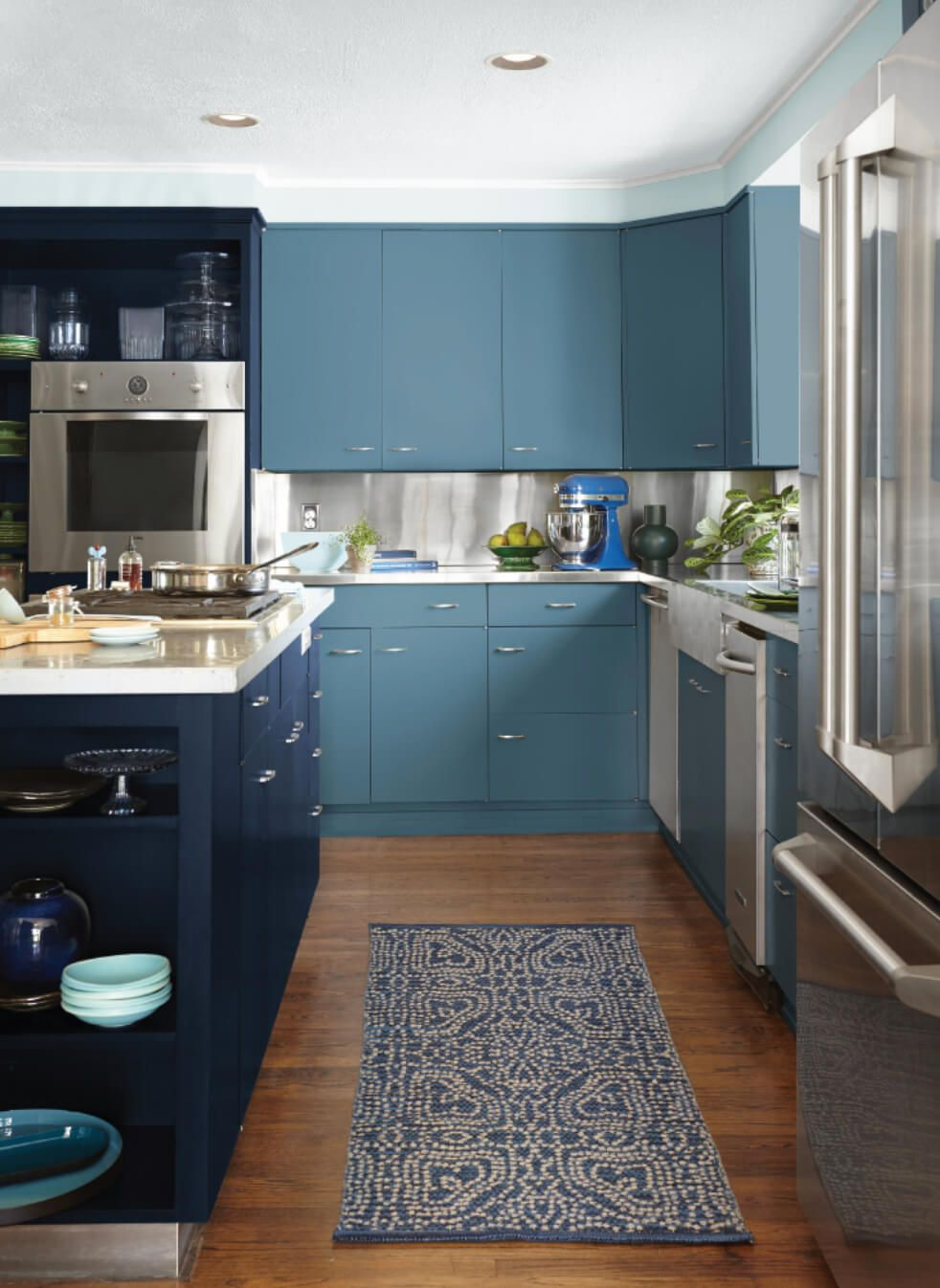 Decorating Ideas For Behr Blueprint 2019 Color Of The Year Https Freshome C Kitchen Cabinet Colors Kitchen Cabinets Kitchen Cabinets With Black Appliances