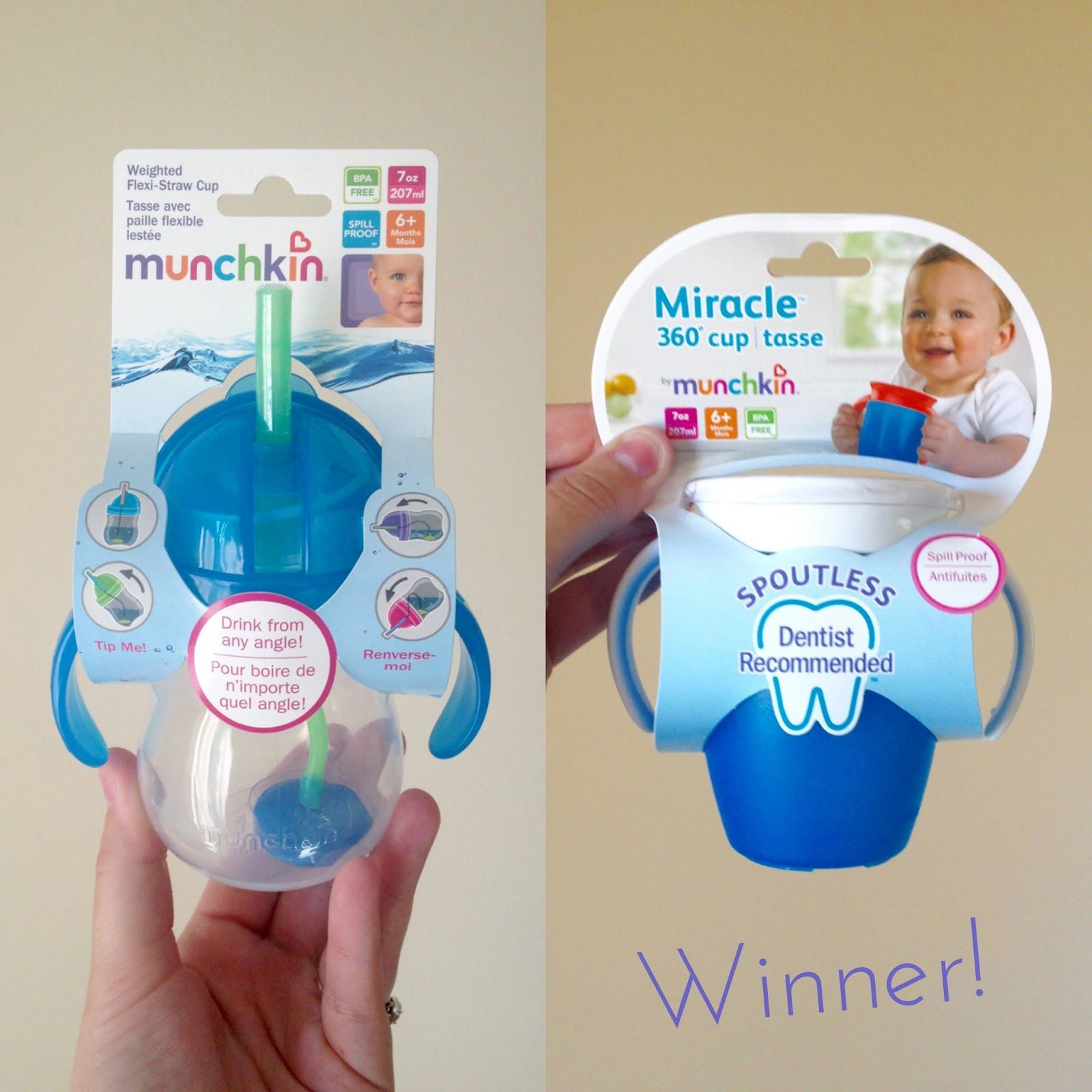 Battle Of The Sippy Cups Munchkin S Weighted Flexi Straw Cup Vs Miracle 360 Cup Best Sippy Cup Baby Cup With Straw Sippy Cup