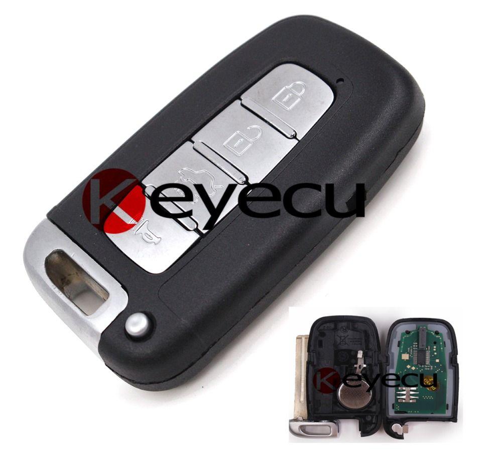 Smart Remote Key 433mhz With Id46 Chip Fob 4 Button For Hyundai I30 Uncut Blade Hyundai Genesis Coupe Hyundai Genesis Elantra