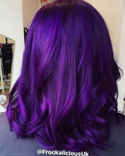 63 Purple Hair Color Ideas To Swoon Over Violet Purple Hair Dye Tips: Hairstyles - Hairstyles For School Curly
