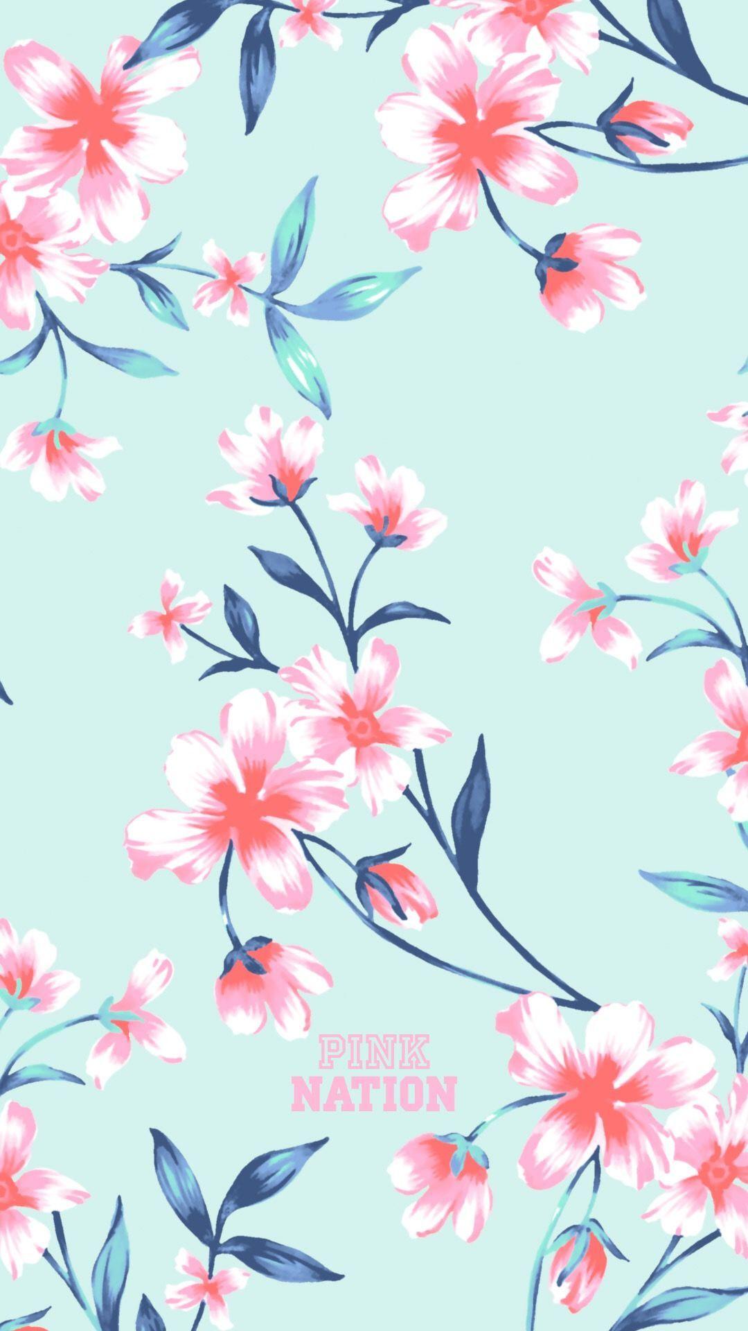 Pattern Pink Flower Floral Design Blossom Pedicel Iphone Wallpaper Pink Nation Wallpaper Iphone Wallpaper Pattern Vs Pink Wallpaper