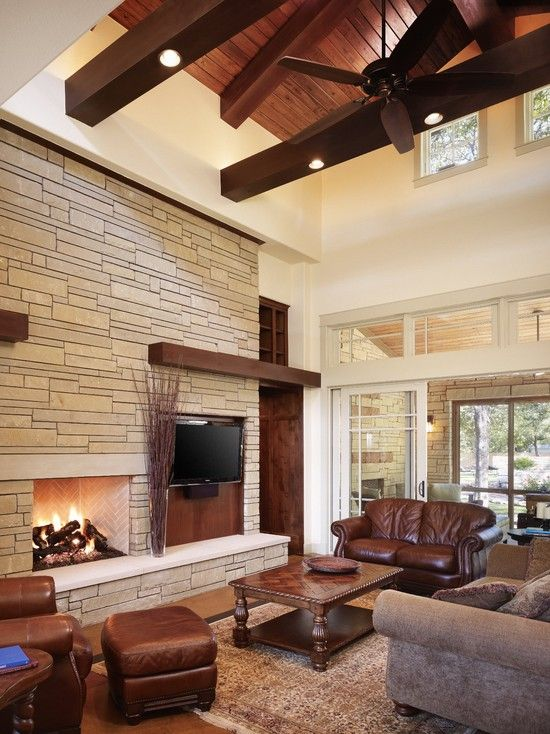 Modern Craftsman Design Ideas Pictures Remodel And Decor Craftsman Living Rooms Living Room Decor Modern Contemporary Fireplace