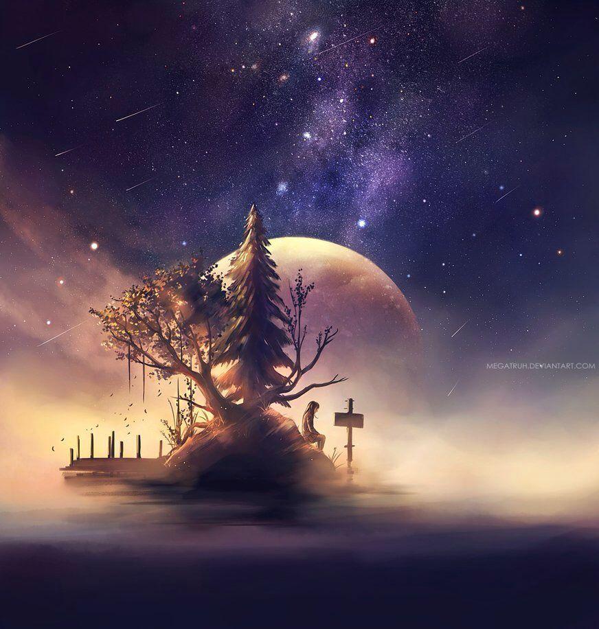 Somnium by megatruh on DeviantArt Fantasy landscape