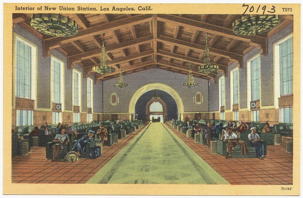 Interior Of New Union Station Los Angeles Calif Union Station Art Deco Architecture Los Angeles
