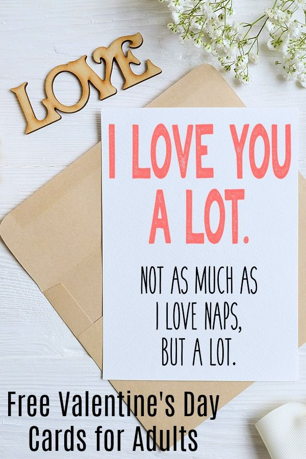 Free Sarcastic Printable Valentines - Cards for Adults