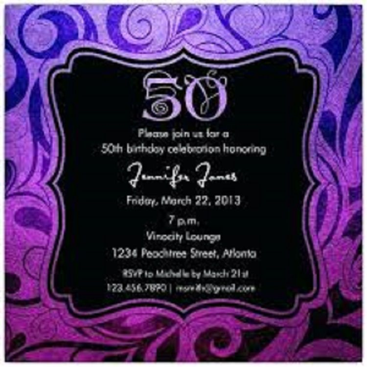 50th Birthday Invitations Free Online