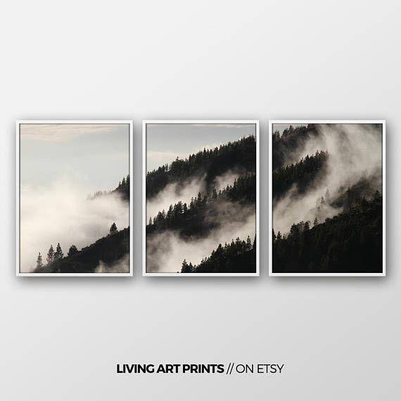 Set von 3 Drucke/ Wandbild/ Walddruck/ Waldfotografie/ Natur Kunst