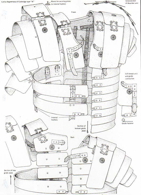 Lorica Segmentata Corbridge Type A Roman Armour