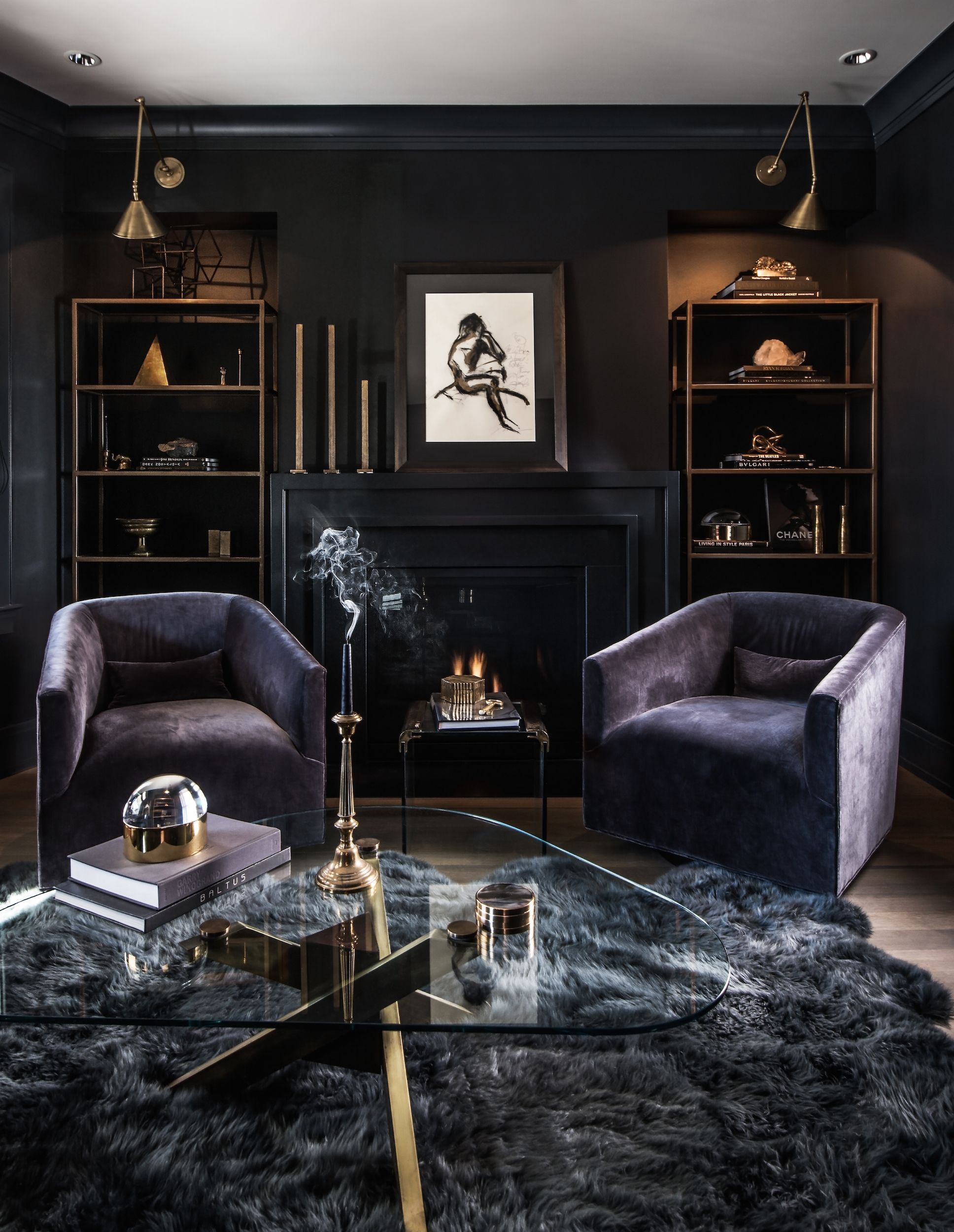 Dark Living Room Ideas: Leo Designs Chicago » Earthy Chic Gallery