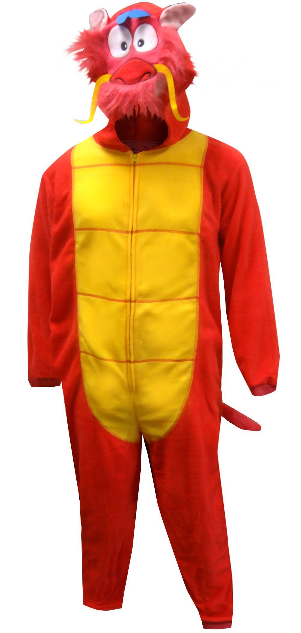 WebUndies.com Mulan Mushu Dragon Costume Onesie Pajama Mens Onesie Pajamas 82f51bf47