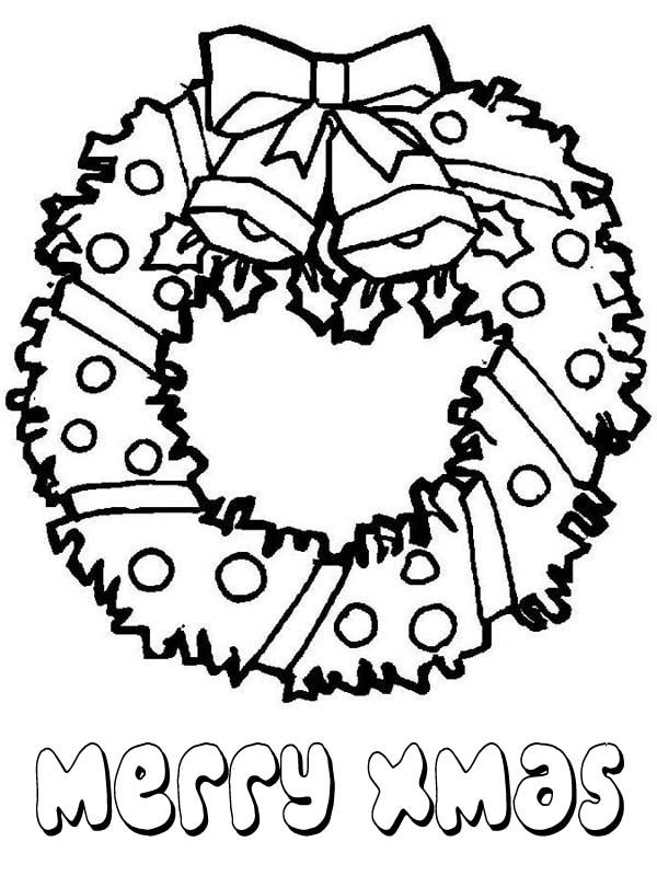 Christmas Lovely Christmas Wreath For Decoration Coloring Page Christmas Coloring Books Free Christmas Coloring Pages Christmas Tree Coloring Page