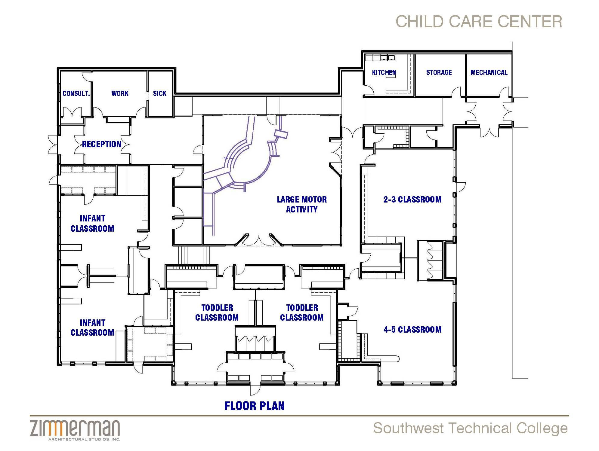 Facility sketch floor plan family child care home for Design a preschool classroom floor plan online
