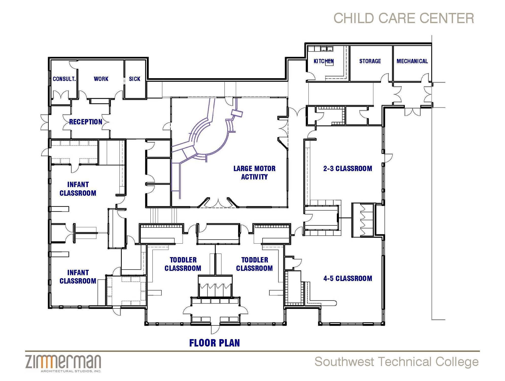 Building Layout Daycare Room Design Daycare Design Daycare