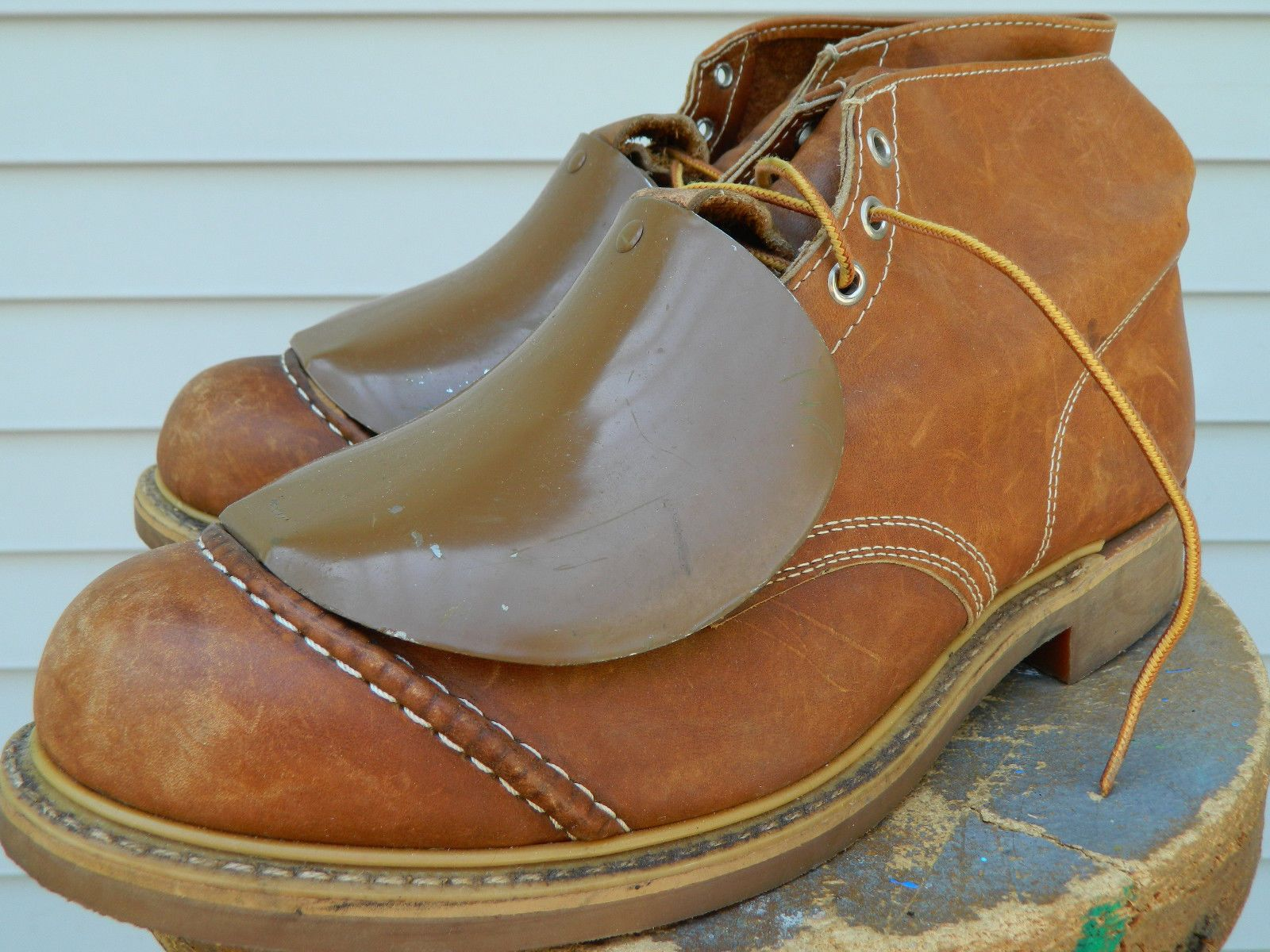 1980's LEHIGH Safety Shoes with Metatarsal Guard. US Men's