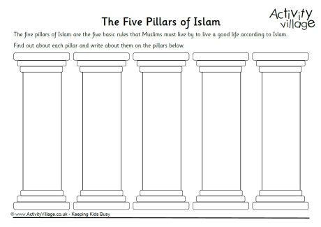Five Pillars of Islam worksheet | Middle Ages | Pillars of