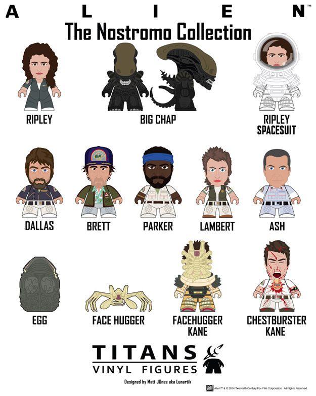 """Mini-Figuras Alien TITANS """"The Nostromo Collection"""" (Blind-Box)"""