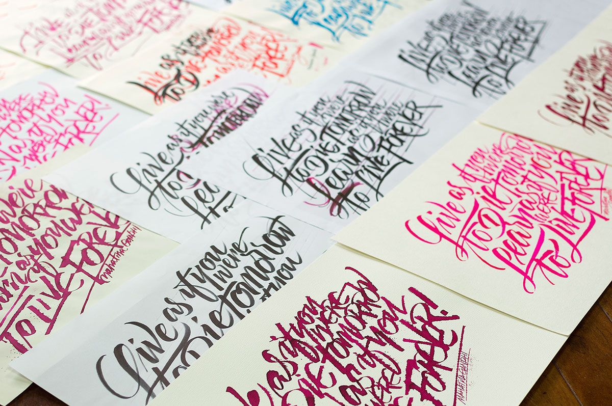 Calligraphy Posters Collection on Behance