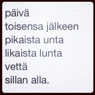 päivän runo 24.2.2014