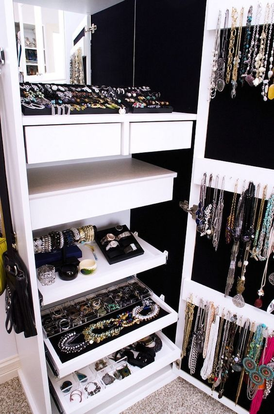 In Closet Jewelry Organizer Closets We Heart It