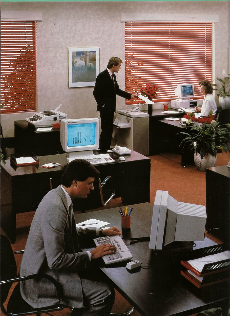 Hi Tech Eighties Office Retro Office 80s Interior Design Vintage Office