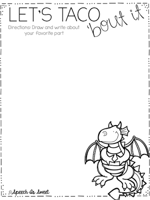Dragons Love Tacos Plus Freebie Dragons Love Tacos Book Activities Writing Activities