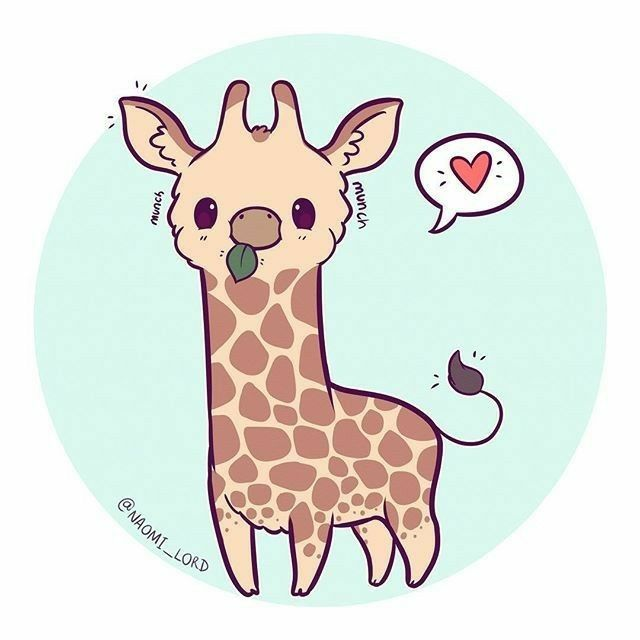 Kawaii Giraffe Cute Animals In 2019 Pinterest Cute Drawings