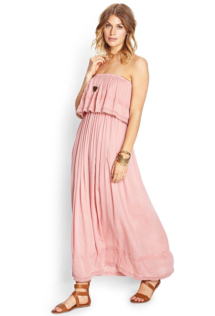 Flounce Tube Maxi Dress | FOREVER21 #SummerForever | moda felina ...