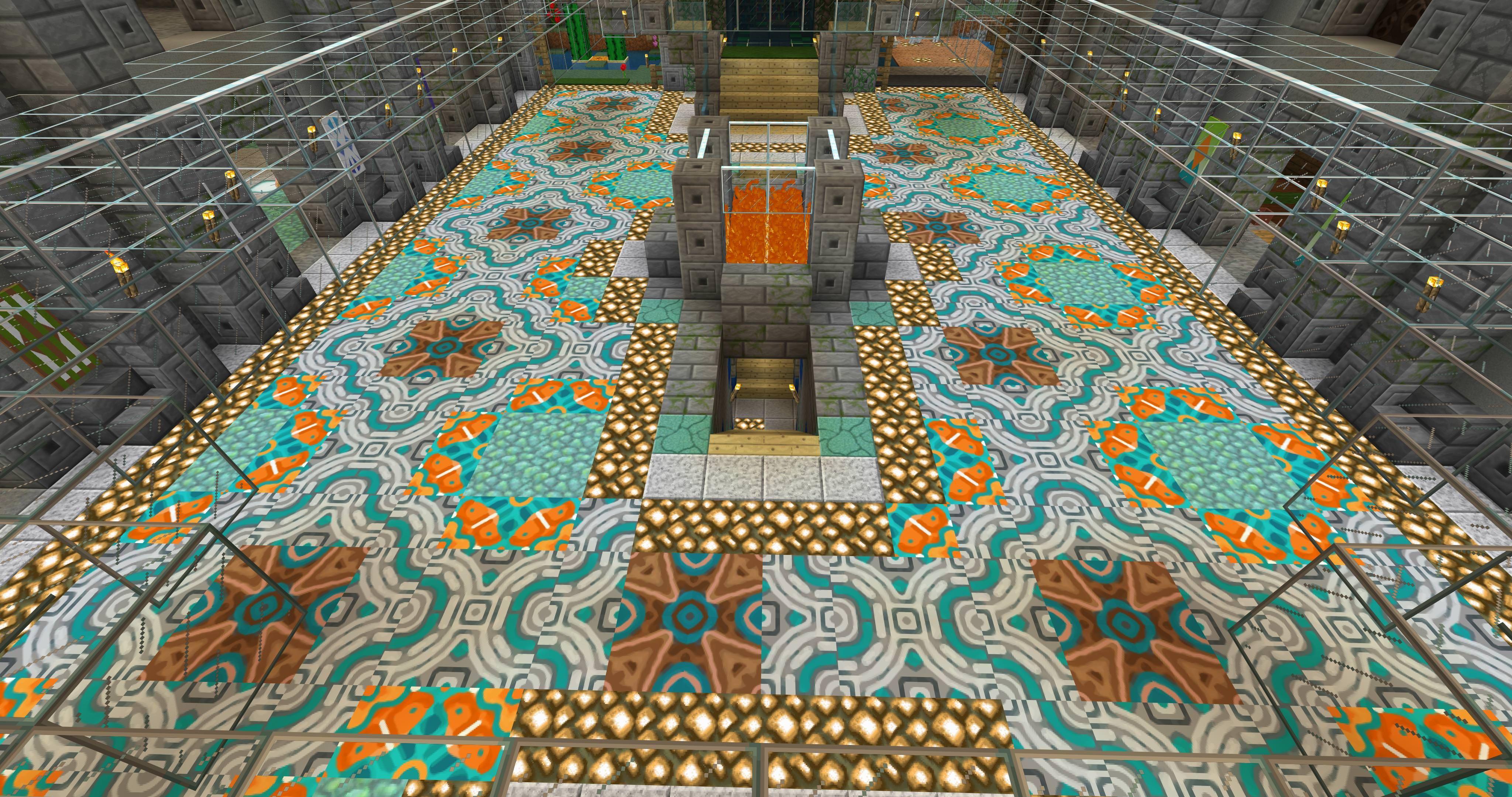 Terracotta Floor Design   Minecraft floor designs, Minecraft ...
