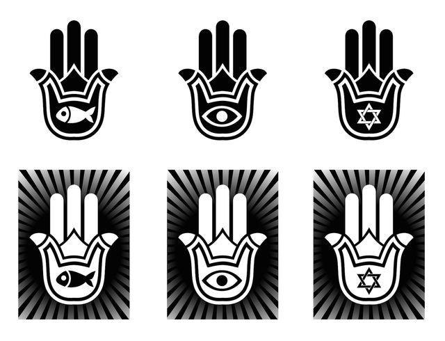 Variations Of The Hamsa Hand Symbol Of Luck Wealth And Protection