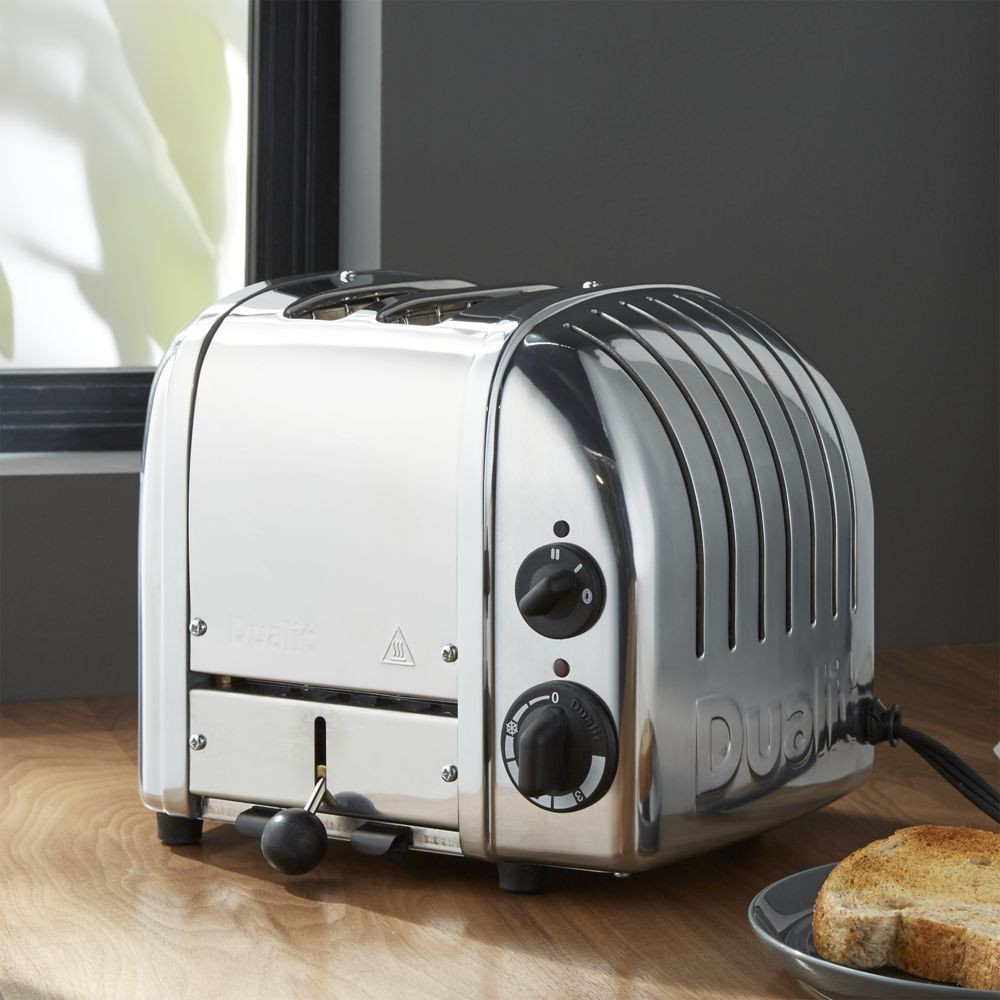 Dualit © 2-Slice Chrome Toaster - Crate and Barrel