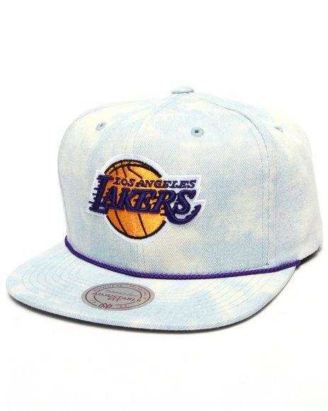 87f5b1a61f2 Mitchell   Ness - Los Angeles Lakers Lite Acid Wash Denim Snapback ...