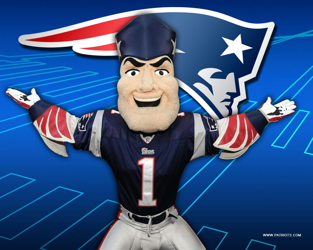 Pat Patriot New England Patriots Mascot Wallpaper 1280 X 1024 New England Patriots Wallpaper New England Patriots New England Patriots Football