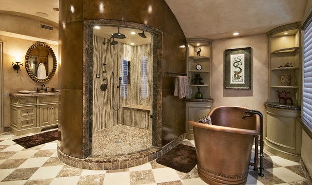 Creating Luxurious Atmosphere With Nice Mediterranean Bathroom Design