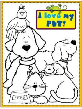Pets Coloring Page Pets Preschool Theme Pets Preschool Preschool Pet Week