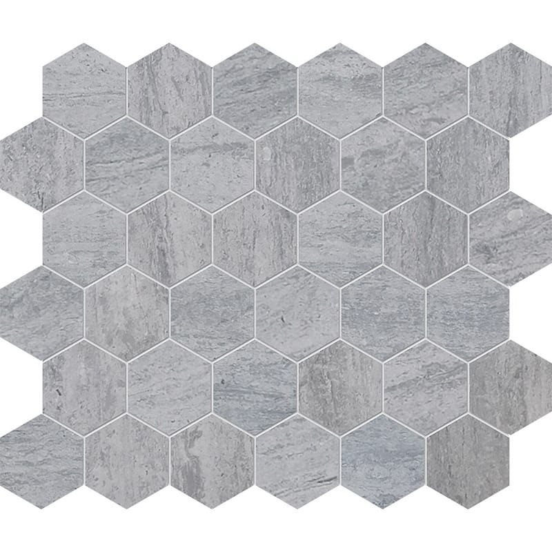 Haisa Blue Honed Hexagon Marble Mosaics 12x12 In 2020 Bathroom Floor Tile Patterns Marble Wall Tiles Marble Mosaic Tiles