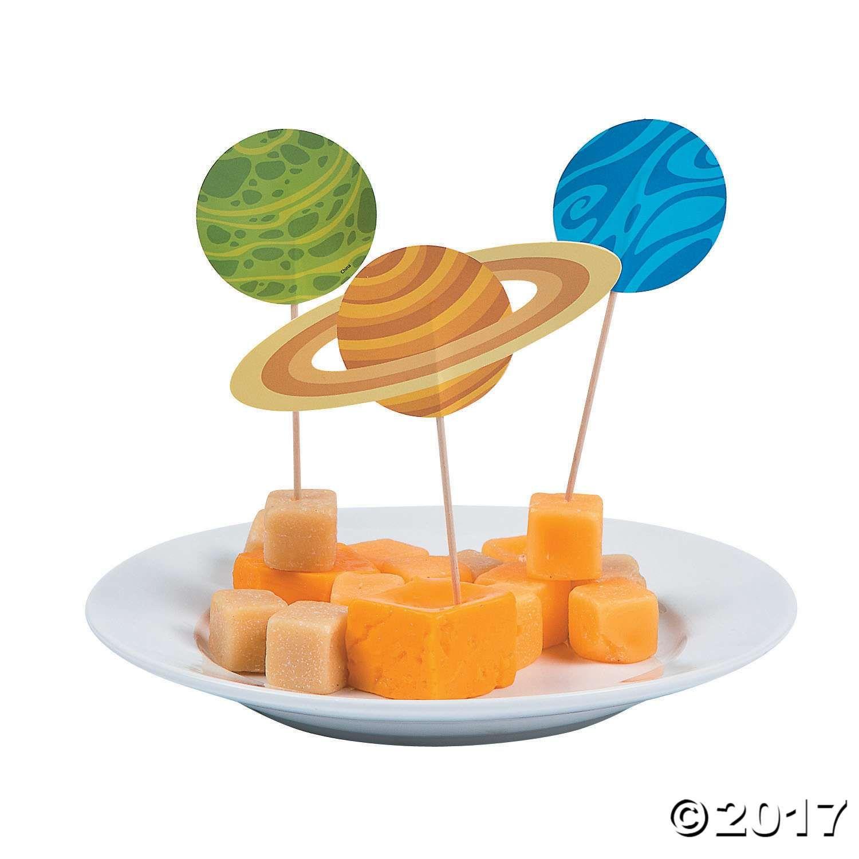 Space Party Cupcake Picks