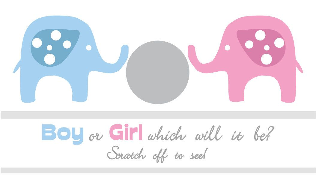 Gender Reveal Scratchcards Blue Pink Boy Girl ITS A BOY Scratch Offs Baby Shower