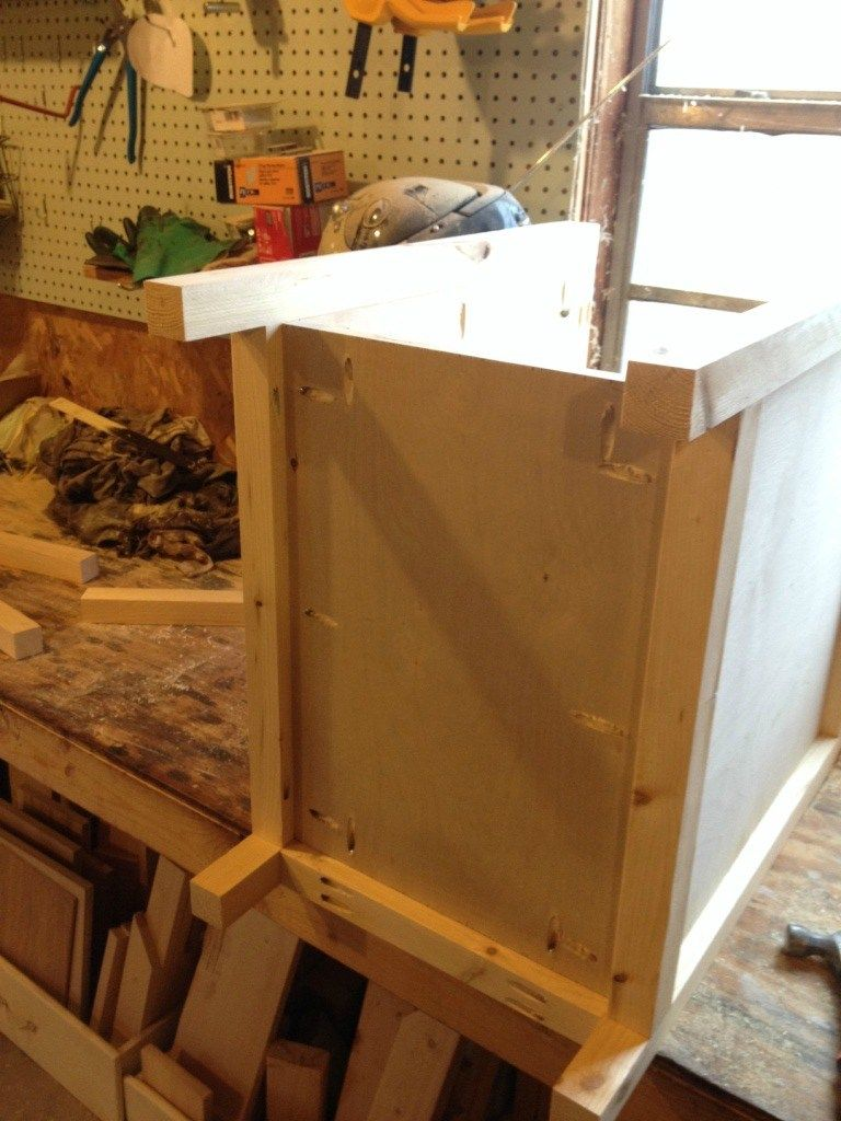 Diy Farmhouse Side Table With Storage Aka The Diaper Cabinet Muebles