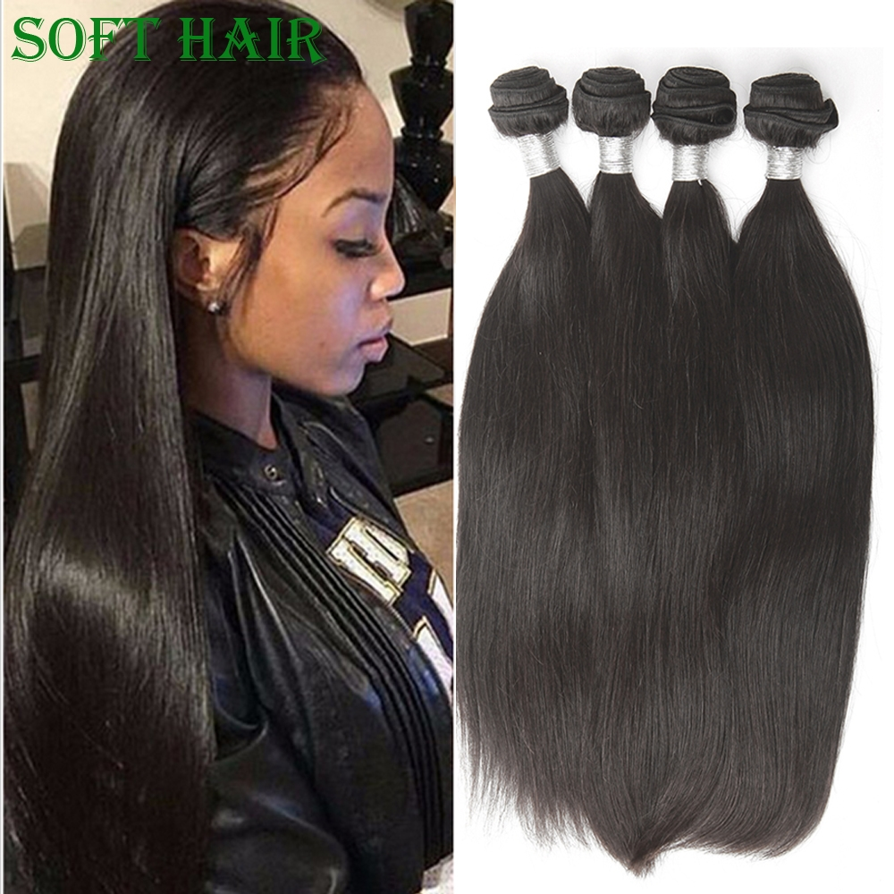 160.00$  Know more - http://aix6b.worlditems.win/all/product.php?id=32701642357 - 7A Unprocessed Malaysian Straight Hair 4 Bundles Human Hair Weave SOFT HAIR STORE Malaysian Virgin Straight Hair Extensions