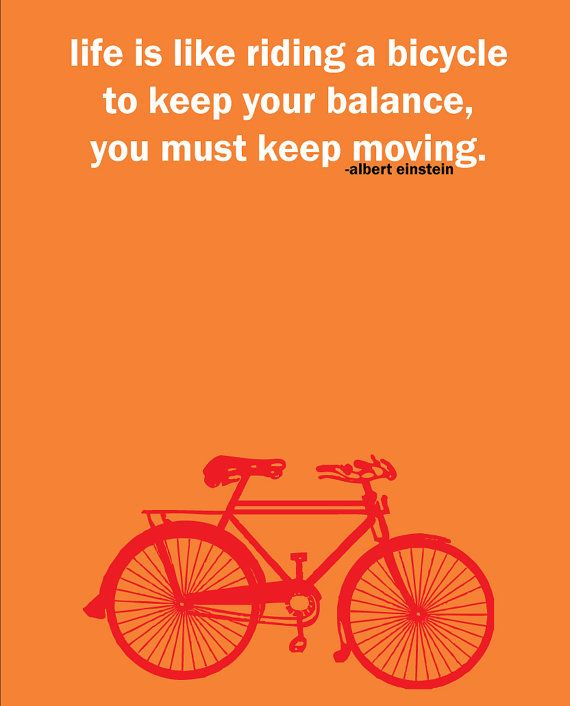 Albert Einstein Quotes Life Is Like Riding A Bicycle: Albert Einstein Cycling Quote Print By Pedalprints On Etsy