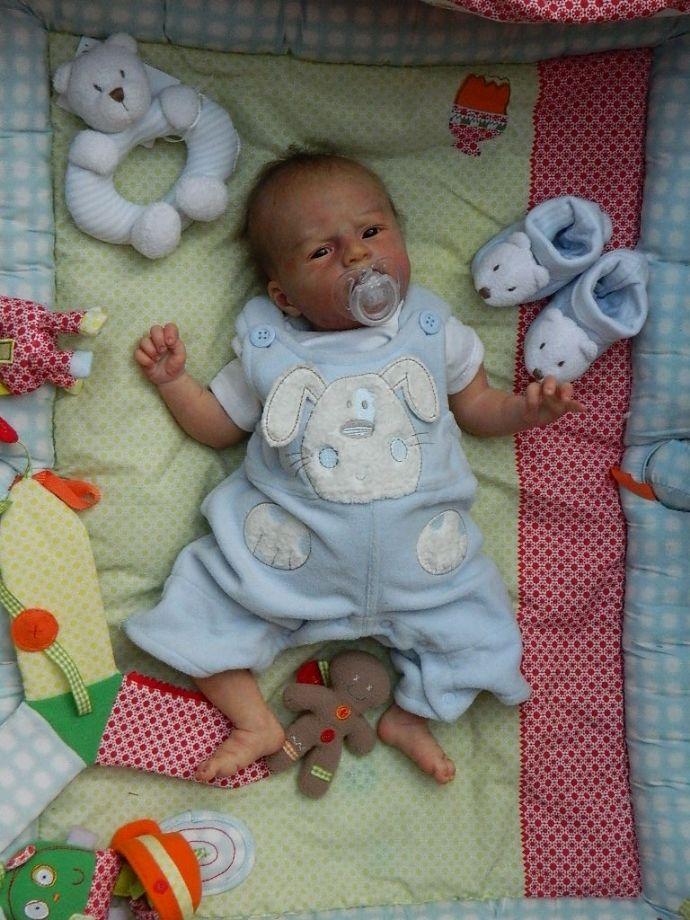 So Real Amazing Reborn Baby Boy Doll Ultra Realism Ed Angel Ebay Realistic Baby Dolls Reborn Baby Boy Reborn Baby Boy Dolls