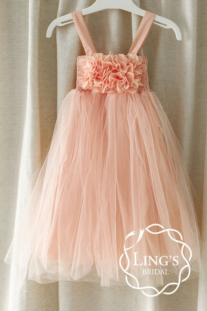 e7fac5872 Pastel Peach Tutu Flower Girl Dress | Attire for Wedding Attendants ...